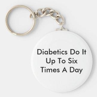 Diabetics Do It Basic Round Button Key Ring