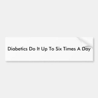 Diabetics Do It Bumper Sticker
