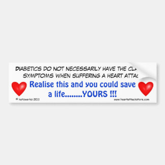 Diabetics do not necessarily have bumper sticker