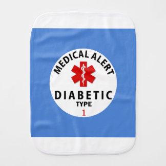 DIABETIES TYPE 1 BURP CLOTH
