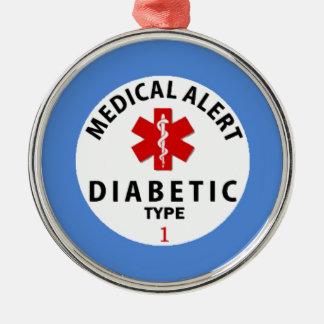 DIABETIES TYPE 1 METAL ORNAMENT