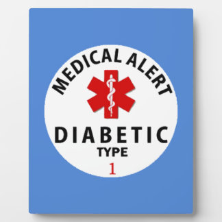DIABETIES TYPE 1 PLAQUE