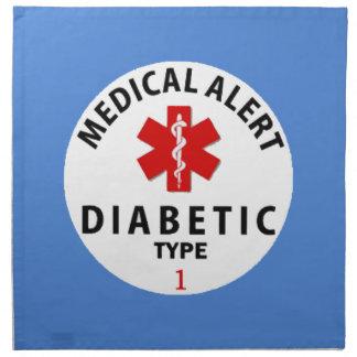 DIABETIES TYPE 1 PRINTED NAPKIN