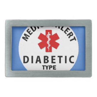 DIABETIES TYPE 1 RECTANGULAR BELT BUCKLE