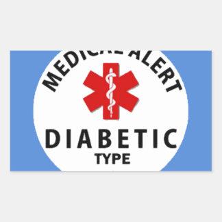 DIABETIES TYPE 1 RECTANGULAR STICKER