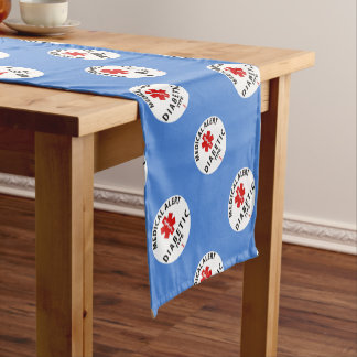 DIABETIES TYPE 1 SHORT TABLE RUNNER