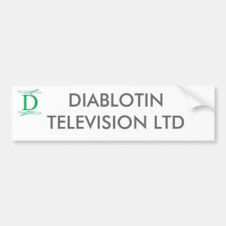 DIABLOTIN TELEVISION LTD BUMPER STICKER