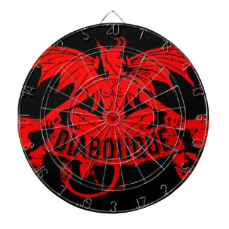 Diabolique Red Devil Winged Demon Satan Game Dart Boards