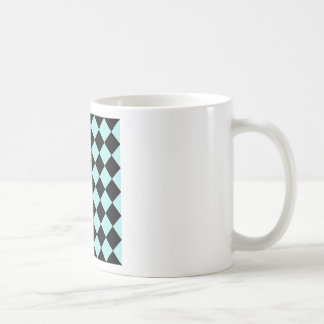 Diag Checkered - Black and Pale Blue Mugs