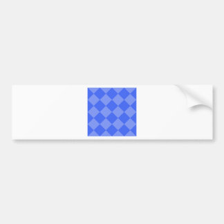 Diag Checkered Large - Blue and Light Blue Bumper Sticker