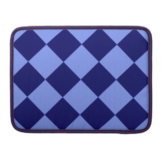 Diag Checkered Large - Light Blue and Dark Blue Sleeves For MacBook Pro