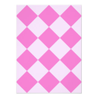 Diag Checkered Large - Light Pink and Dark Pink Card