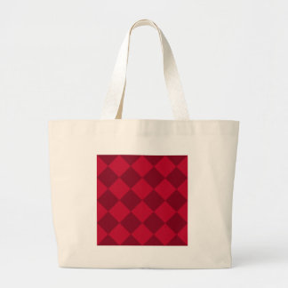 Diag Checkered Large - Red and Dark Red Jumbo Tote Bag