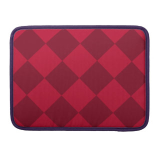 Diag Checkered Large - Red and Dark Red Sleeves For MacBooks