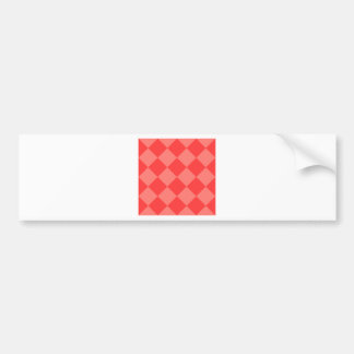 Diag Checkered Large - Red and Light Red Bumper Sticker