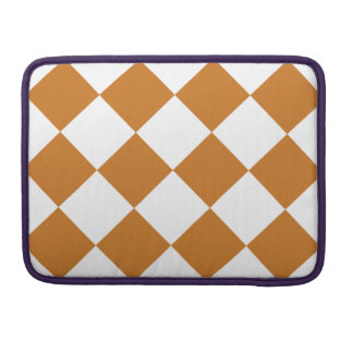 Diag Checkered Large - White and Ochre MacBook Pro Sleeves