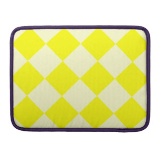 Diag Checkered Large - Yellow and Light Yellow Sleeve For MacBook Pro