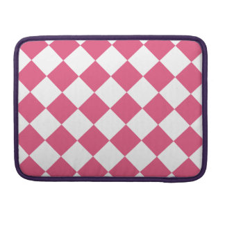 Diag Checkered - White and Dark Pink Sleeves For MacBooks