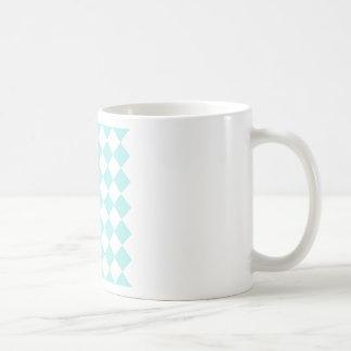 Diag Checkered - White and Pale Blue Basic White Mug