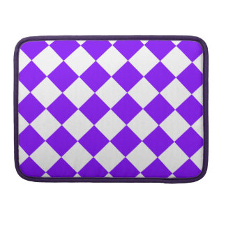 Diag Checkered - White and Violet MacBook Pro Sleeves