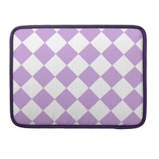 Diag Checkered - White and Wisteria Sleeves For MacBook Pro