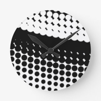 Diag Half Tone Round Clock