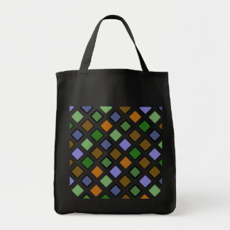 DIAG SQUARES mixed Grocery Tote Bag
