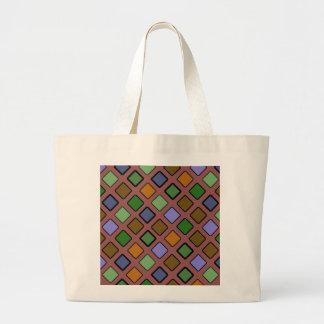 DIAG SQURES mixed Jumbo Tote Bag