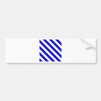 Diag Stripes - White and Blue Bumper Stickers