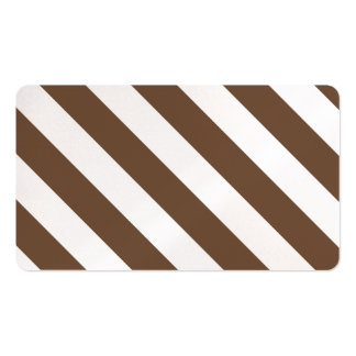 Diag Stripes - White and Coffee Business Card