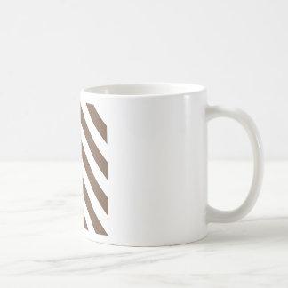 Diag Stripes - White and Coffee Mug