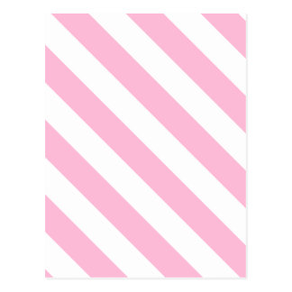 Diag Stripes - White and Cotton Candy Postcard
