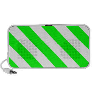 Diag Stripes - White and Electric Green PC Speakers