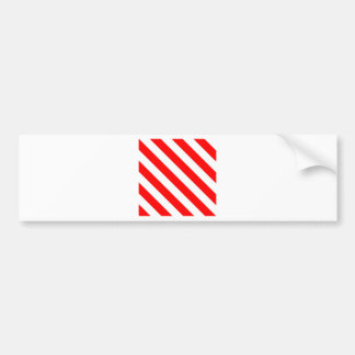 Diag Stripes - White and Red Bumper Stickers
