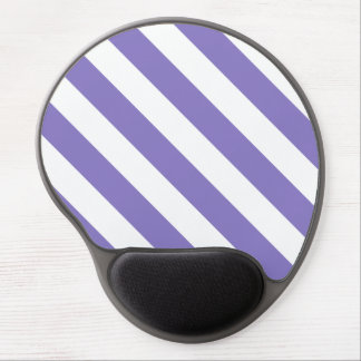 Diag Stripes - White and Ube Gel Mouse Mats