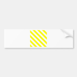 Diag Stripes - White and Yellow Bumper Sticker