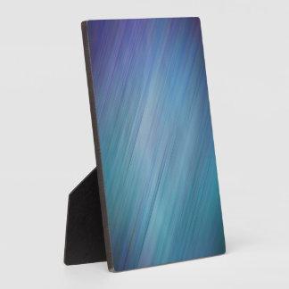 Diagonal Blue Rain Plaque