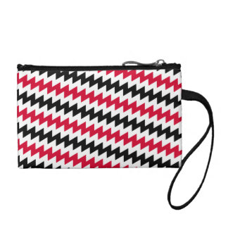 Diagonal chevron stripes coin purse