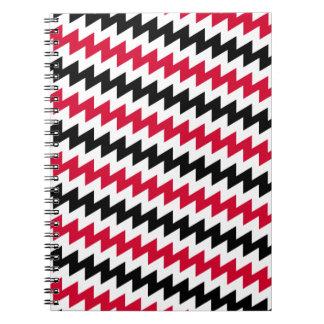 Diagonal chevron stripes notebook