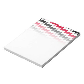 Diagonal chevron stripes notepad
