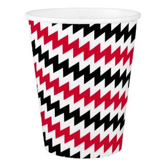 Diagonal chevron stripes paper cup