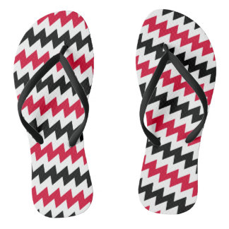 Diagonal chevron stripes thongs