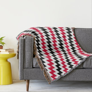 Diagonal chevron stripes throw blanket