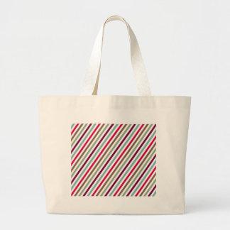 Diagonal Chic Multicolored Stripes Canvas Bags