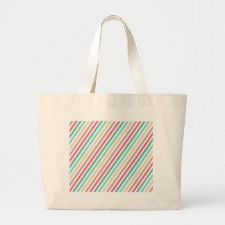 Diagonal Chic Multicolored Stripes Tote Bag