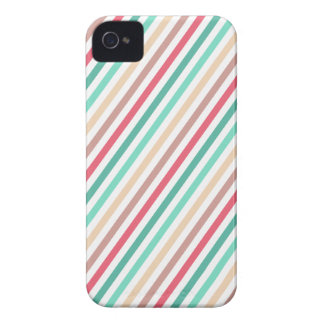Diagonal Chic Multicolored Stripes iPhone 4 Case-Mate Cases