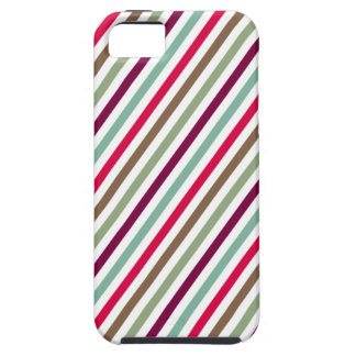 Diagonal Chic Multicolored Stripes iPhone 5 Cases