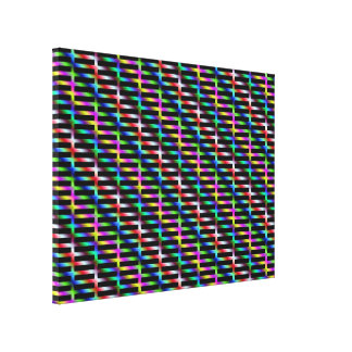 Diagonal Color Grid Canvas Print