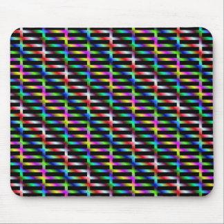 Diagonal Color Grid Mousepad