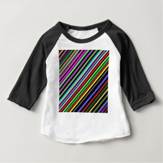 Diagonal Color Stripes Baby T-Shirt